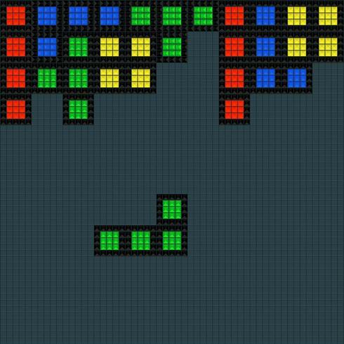 Plantilla cuadrada de videojuego antiguo vector