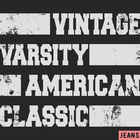 Timbre vintage américain classique vecteur