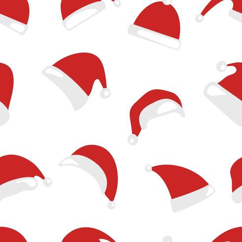 Christmas hat seamless pattern vector
