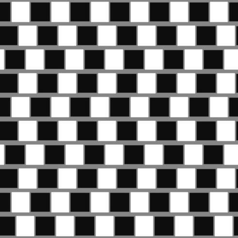 Illusion d'optique géométrique café mur vecteur