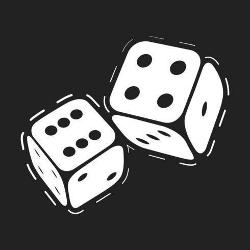 Dés de jeu de casino vecteur