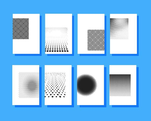 Blank halftone covers