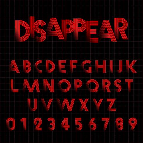 Disappear Alphabet font template.