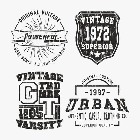 Vntage stamp set vector