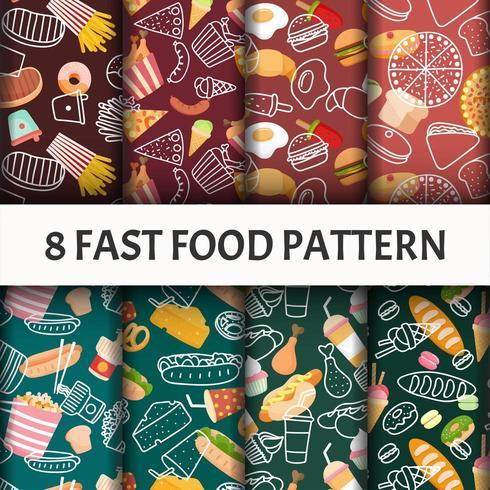 Fast food pattern set.