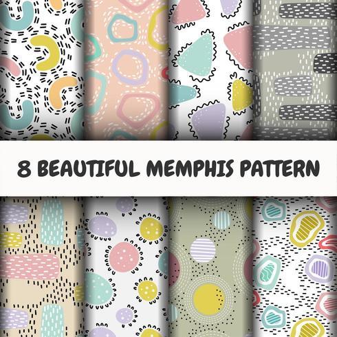 Seamless  modern pattern set