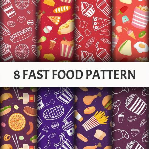 Fast-Food-Mustersatz.