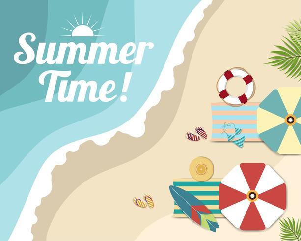 Carte de bannière et affiche magnifique plage d'été