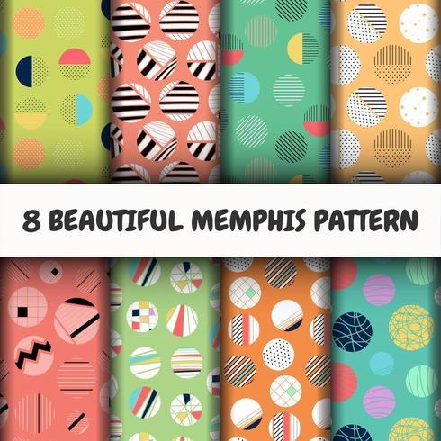 Conjunto de patrones de Memphis vector