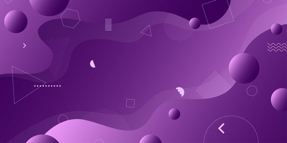 Purple abstract retro geometric shapes background  vector