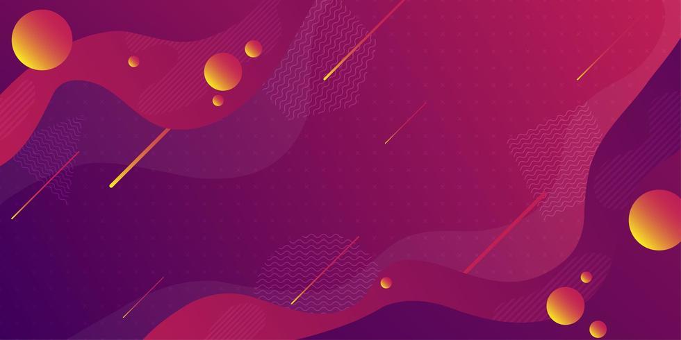 Colorful fluid shape retro geometric background vector