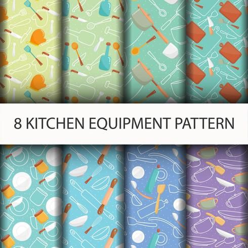 Keuken gereedschap patroon set.