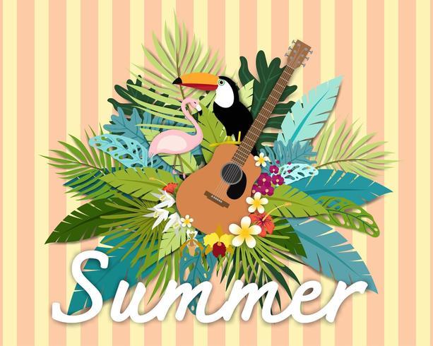 Mooie zomer banner en poster tropische kaart