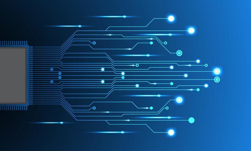 Futuristisk elektronisk krets vektor