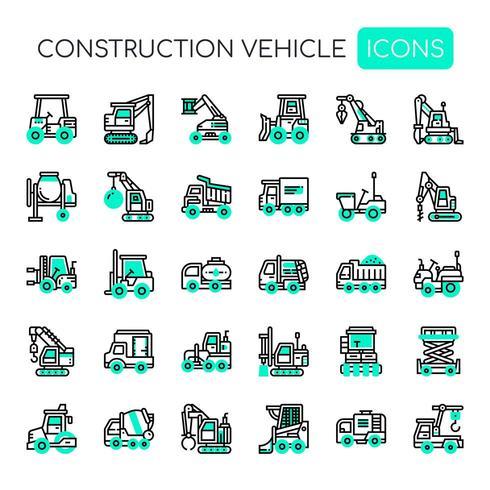 Véhicule de construction Thin Line et Pixel Perfect Icons