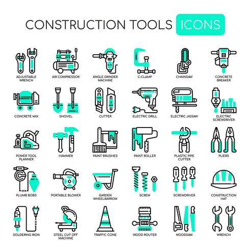 Herramientas de construcción Thin Line y Pixel Perfect Icons