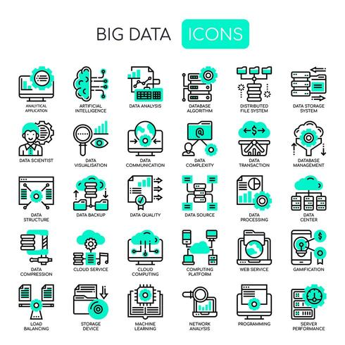 Big Data, Thin Line y Pixel Perfect Icons