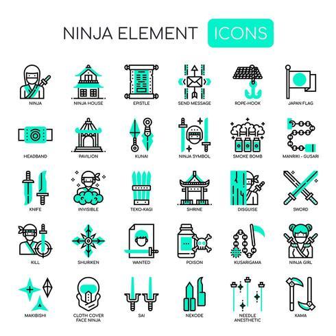Ninja Elements, Thin Line e Pixel Perfect Icons