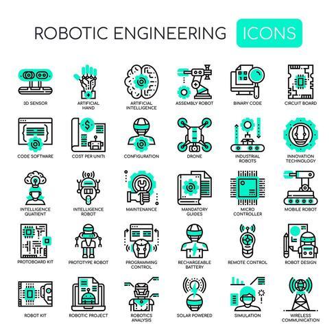 Robotic Engineering, Thin Line en Pixel Perfect Icons