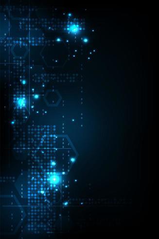 Concepto de tecnología digital vertical vector