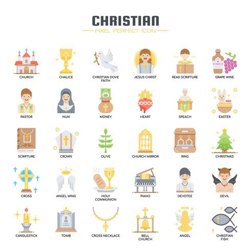 Christian Elements , Thin Line and Pixel Perfect Icons