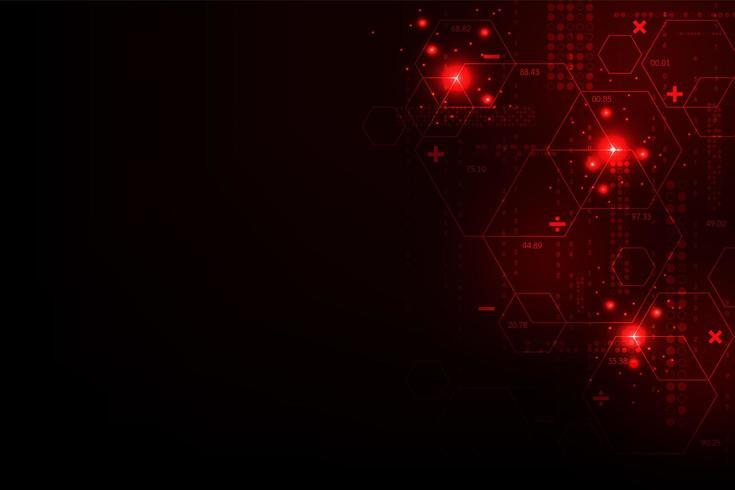 Röd abstrakt digital linjedesign vektor
