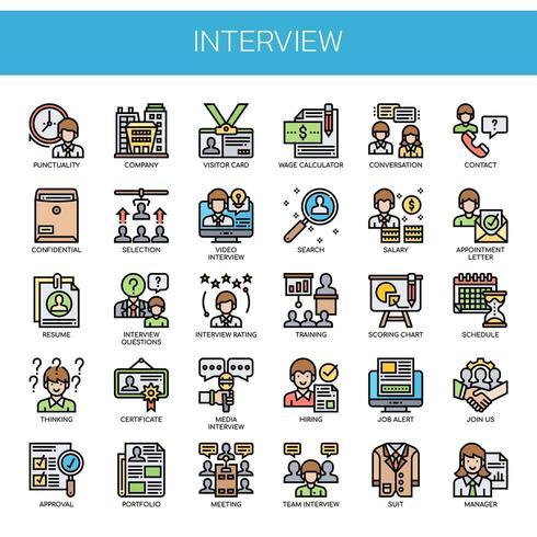 Intervista, linea sottile e icone pixel perfette