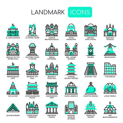 Landmark, Thin Line en Pixel Perfect Icons