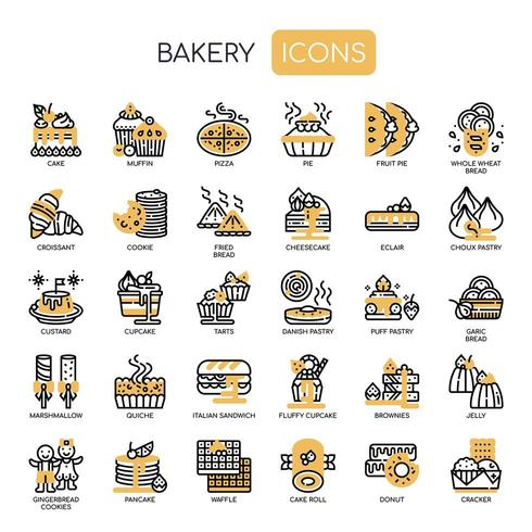 Bakkerij, Pixel Perfect Icons vector