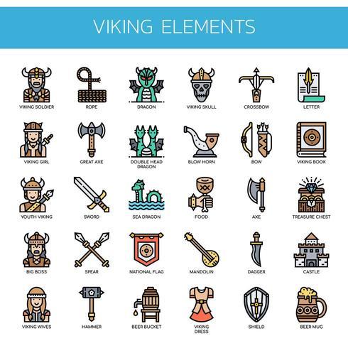 Icone perfette di Viking Elements, Thin Line e Pixel
