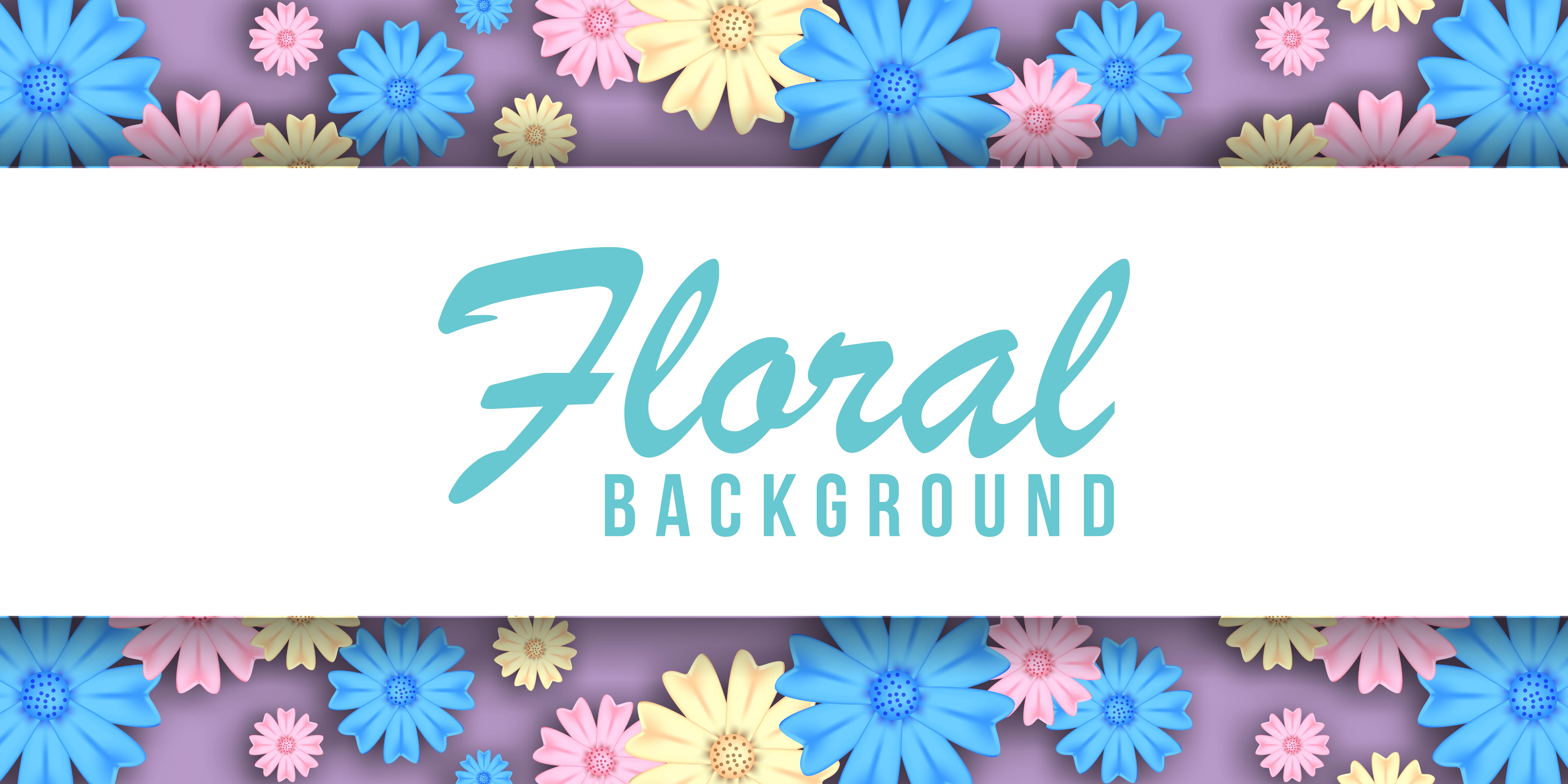 Pastel Floral Background Banner Download Free Vectors Clipart