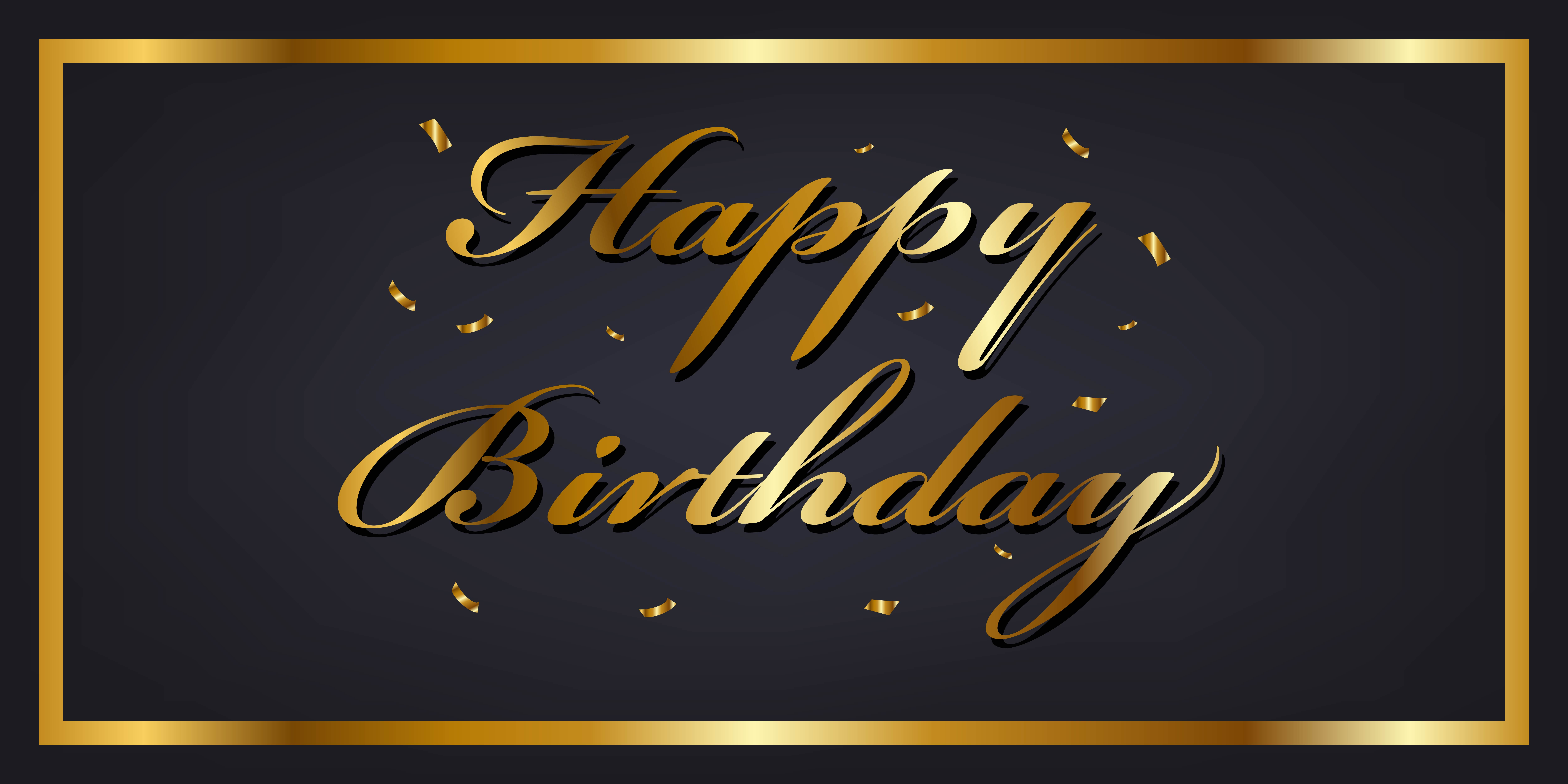 Gold Happy Birthday Banner - Download Free Vectors ...