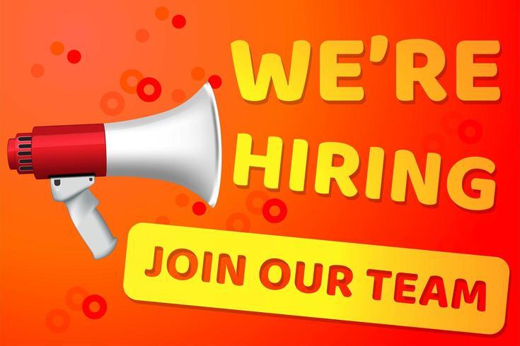 Cartaz de contratação de recrutamento