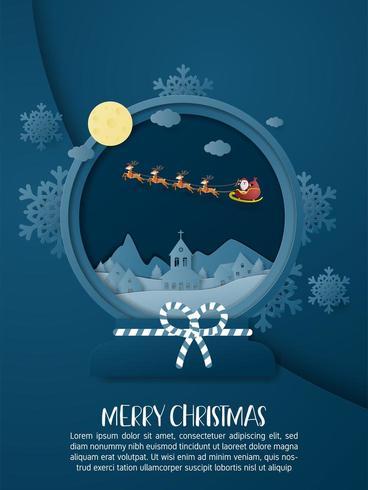 Weihnachtsfeierplakat in Papierschnittart