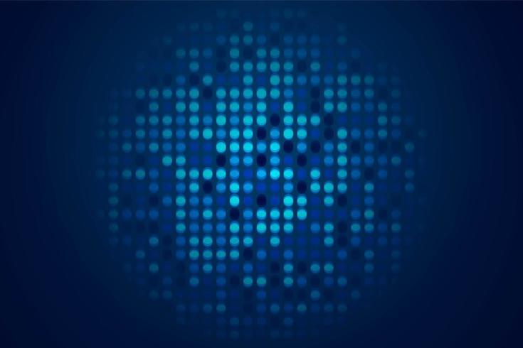 Lustro tecnologico sfondo blu