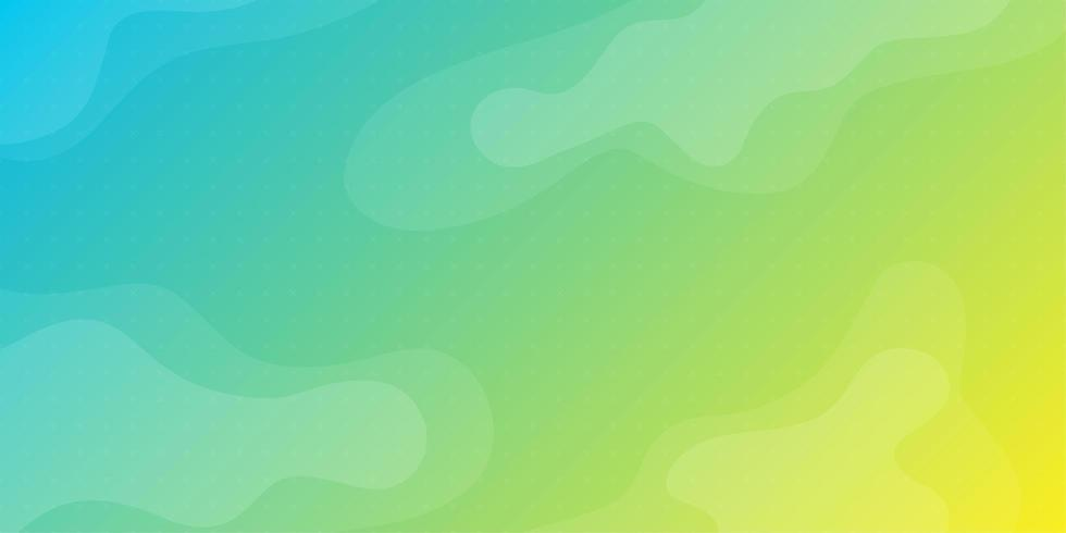 Bright blue green and yellow fluid shapes background