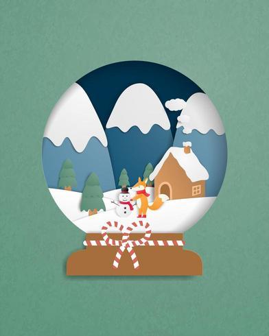 Christmas celebration greeting card