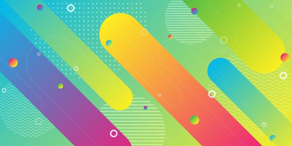 Colorful gradient diagonal geometric shape background  vector