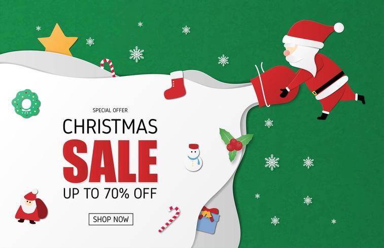 Bannière de vente de Noël