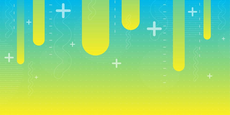 Blue green yellow gradient abstract shape background  vector