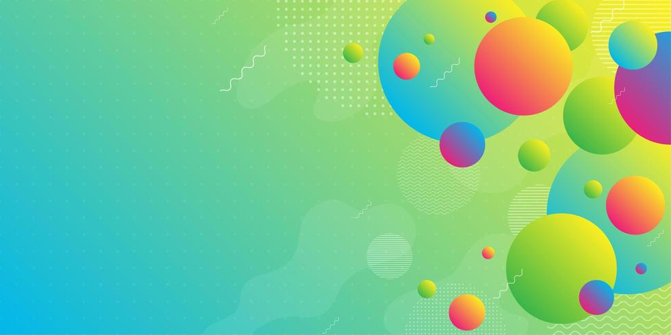 Bright neon background with colorful gradient shapes  vector