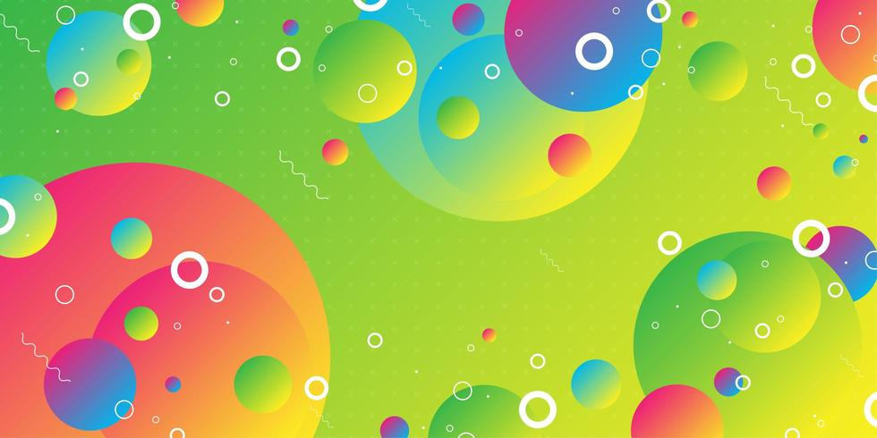Colorful overlapping gradient sphere shapes  vector