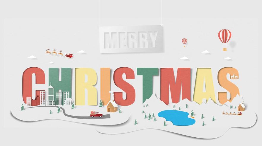 Frohe Weihnachten Landschaft Hintergrund vektor