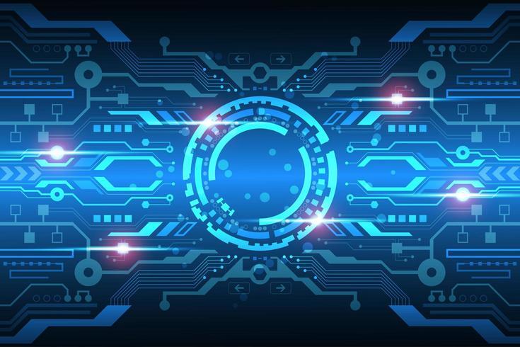 Futuristisch leuchtende Digitalanzeige vektor