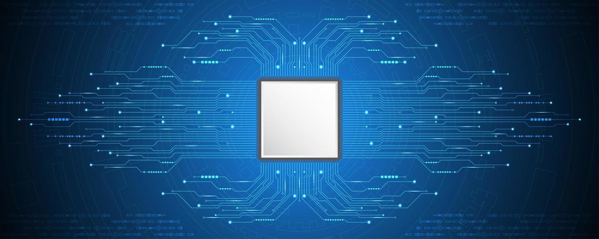 CPU-Platine Tech-Konzept vektor