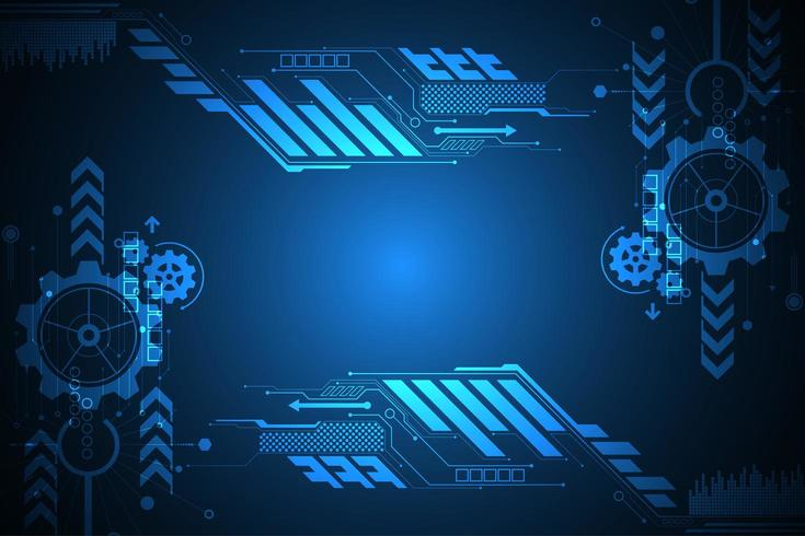 Blauer digitaler glühender Technologieanzeigefeld vektor