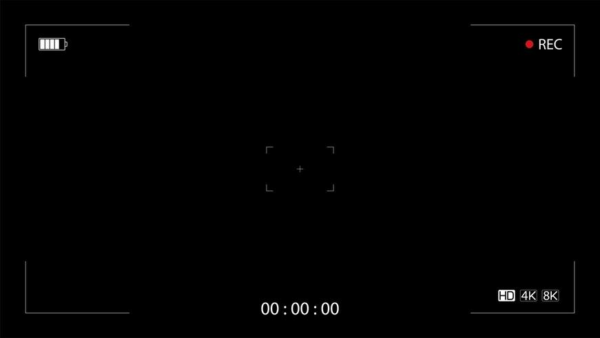 Visor de grabación de cámara vector