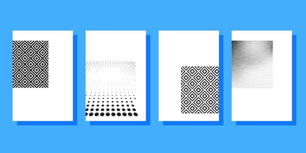 Halbton deckt Broschüren Vorlage vektor