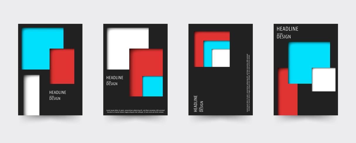 Brochure gradient cover template set vector