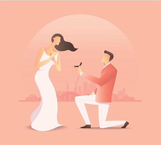 uomo che propone a una donna